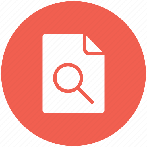analysis, details, examine, file, research, search, study icon icon