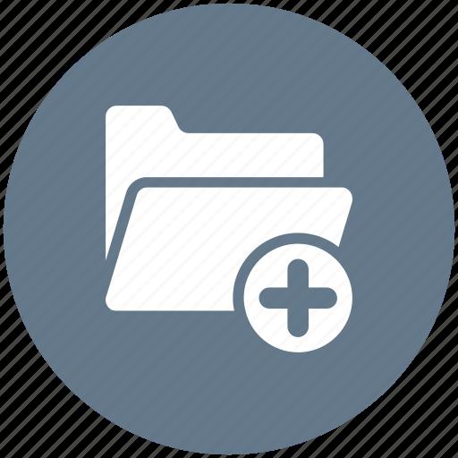 add, folder, new, plus icon icon