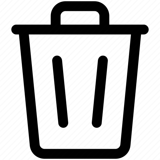 Dustbin Garbage Bin Garbage Container Recycle Bin Trash Can Icon