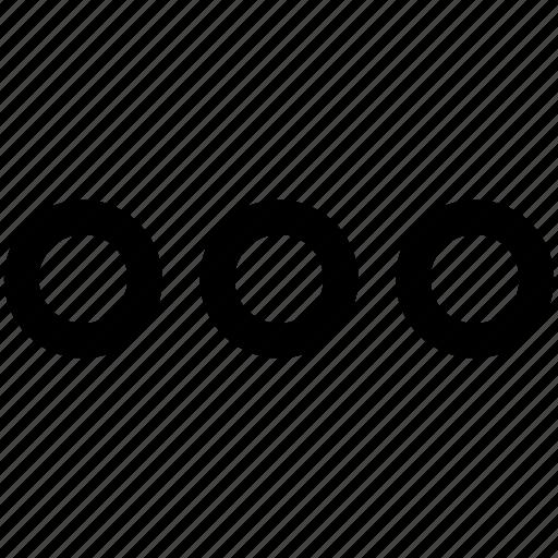 ellipsis, menu, more, speech icon icon