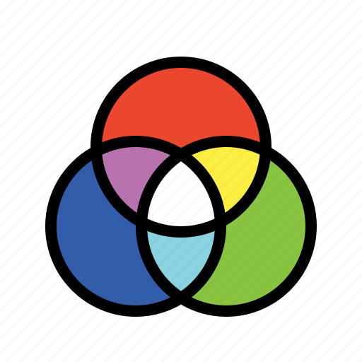 cmyk, color, color theory, pigment, rgb icon