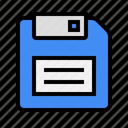 disk, diskette, floppy disk, guardar, save, storage icon