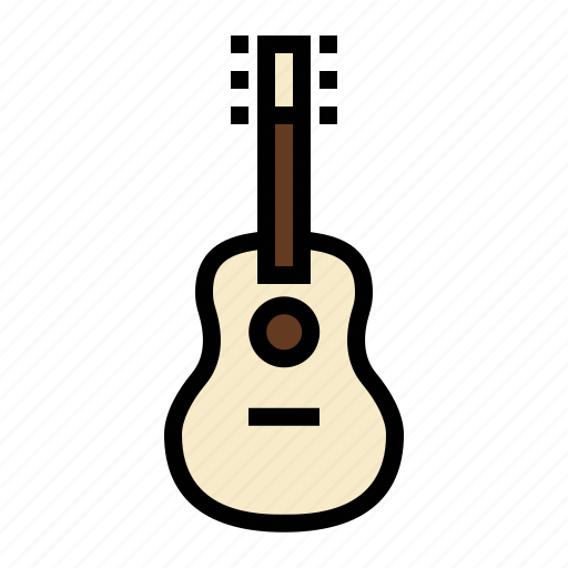 acoustic guitar, country music, folk music, guitar, music, rock music, song icon