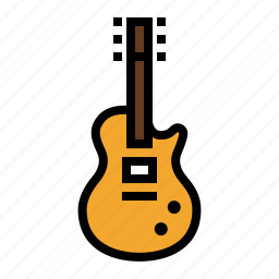 electric guitar, guitar, les paul, music, rock music, rock-n-roll, song icon