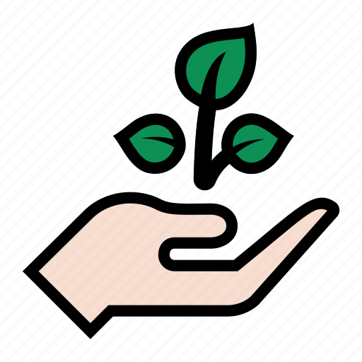 agriculture, hand, harvest, leaf, leaves, plant, planting icon