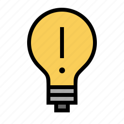 bright, creativity, idea, light, light bulb icon