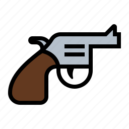 gun, hand gun, kill, murder, pistol, revolver, weapon icon