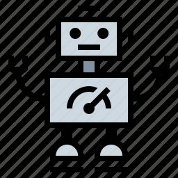 android, automaton, cyberman, cyborg, humanoid, machine, robot icon