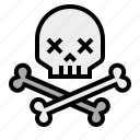 bones, danger, death, pirate, skull, warning icon