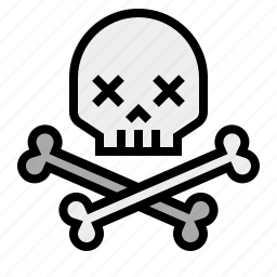 bones, danger, death, pirate, skull, warning icon