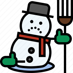 christmas, frosty, melting, snowman, winter icon