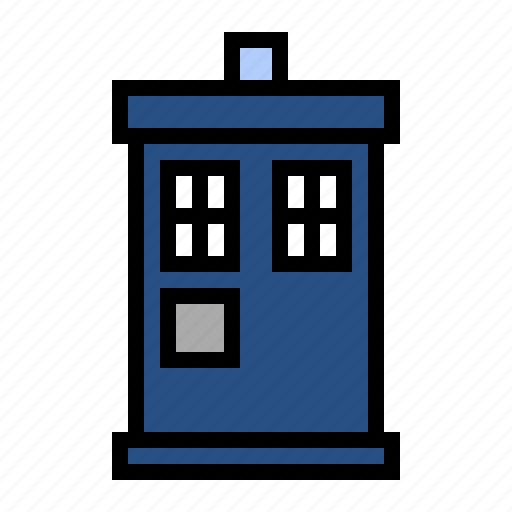 doctor who, police box, science fiction, tardis, the doctor, time travel icon