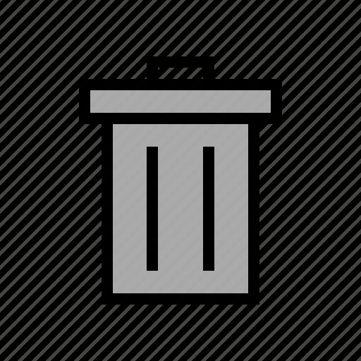 delete, garbage, litter, trash, waste bin icon