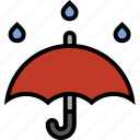 forecast, rain, storm, thunderstorm, umbrella, weather icon