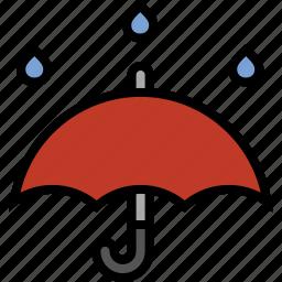 forecast, rain, storm, thunderstorm, umbrella, weather icon