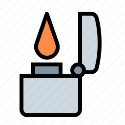 fire, flame, lighter, smoker, torch, zippo icon