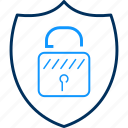 antivirus, password, protection, safety, security, shield icon