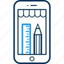 design, edit, mobile, pencil, phone icon