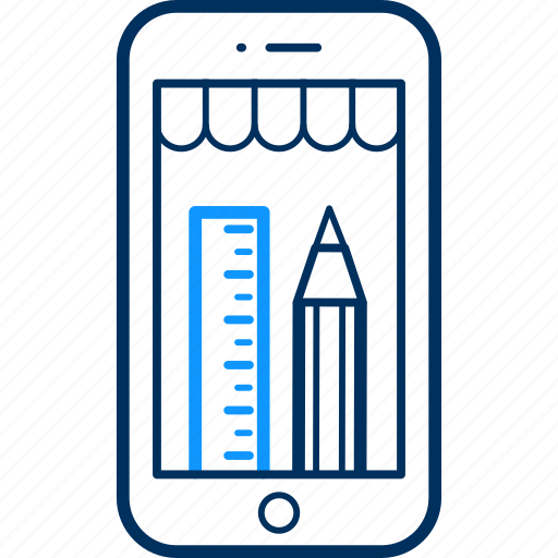 design, edit, mobile, pencil, phone icon