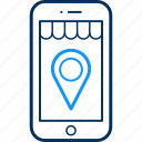 direction, gps, location, map, mobile, pin icon