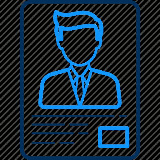 avatar, boy, card, id, profile, proof, user icon