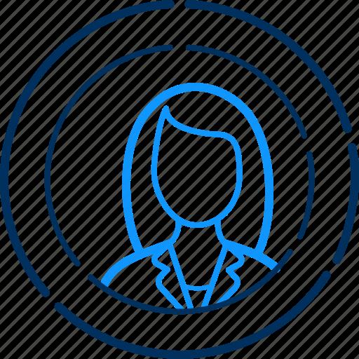 avatar, female, girl, human, person, user, woman icon
