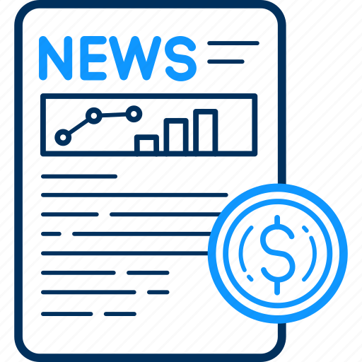article, currency, media, money, news, newsletter, newspaper icon
