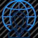 country, girl, head, representative, seo, support, web icon