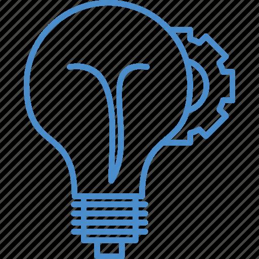 bulb, idea, setting icon