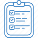 checklist, clipboard, list, paper icon