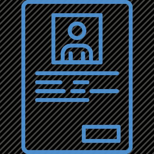cv, resume, text icon