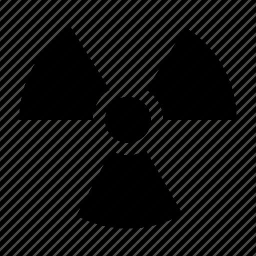 atomic, attention, danger, radiation, radiation sign icon