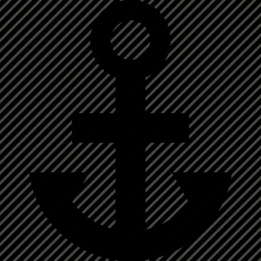 anchor, port, ship icon