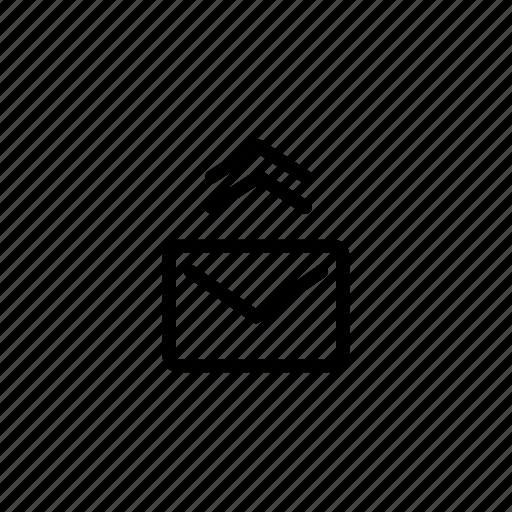 forward, letter, mail, sending icon