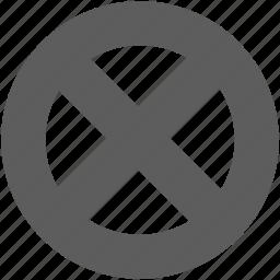 ban, cancel, close, delete, exit, forbidden, remove icon