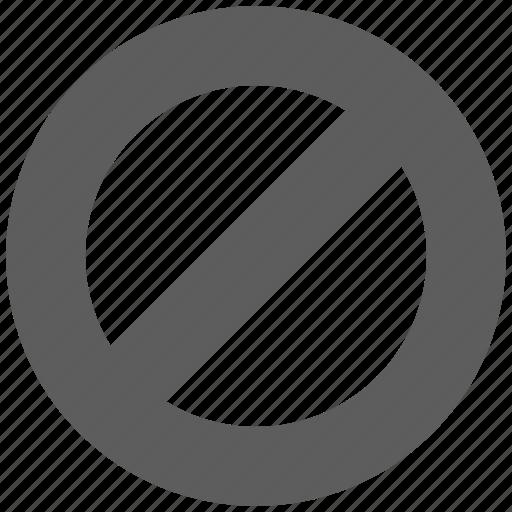 ban, cancel, forbidden, remove icon