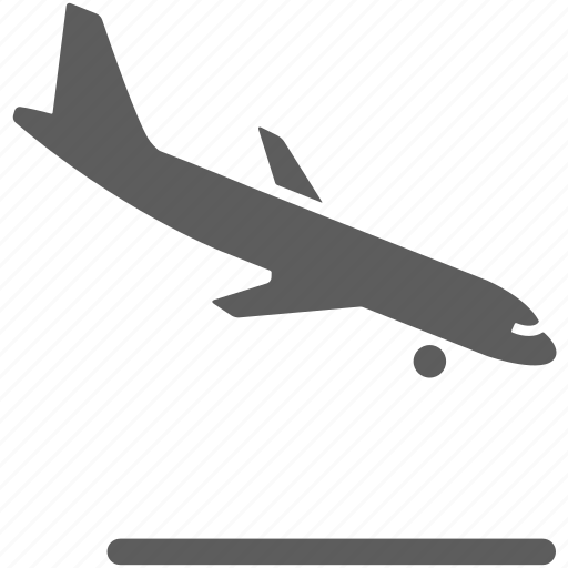 airplane, airport, descending, flight, landing, plane icon