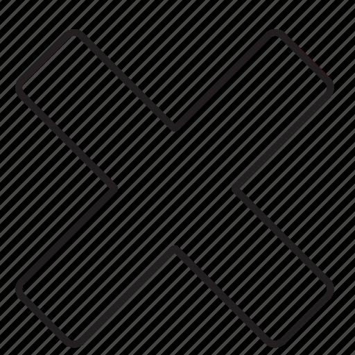 close, cross, delete, delete tag, interface, remove icon