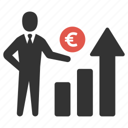 business, earnings, finance, growth, investment, men, money icon