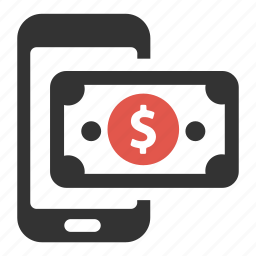 cash, money, pay, payment, phone, shop, smartphone icon