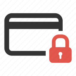 credit card, lock, password, pay, protected, safe, secure icon