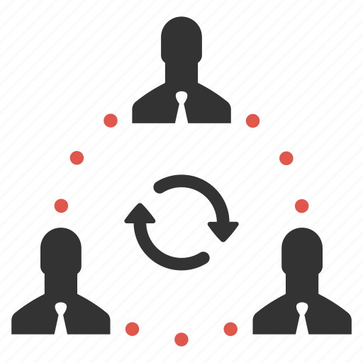 businessmen, change, connection, hierarchy, people, rotate, swap icon