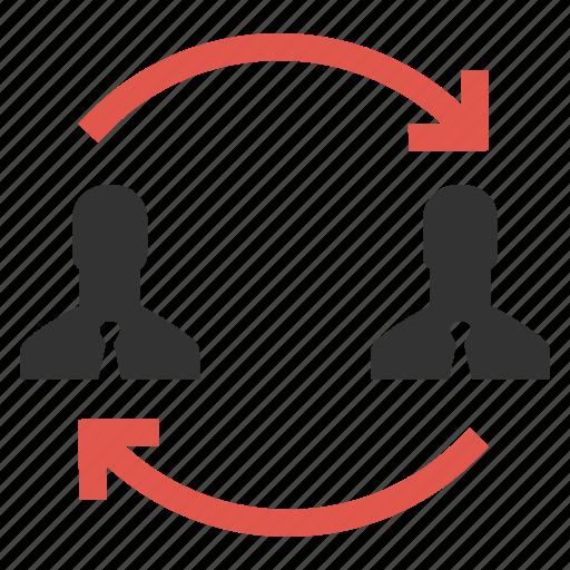 businessmen, change, human resources, move, rearrange, replace, swap icon