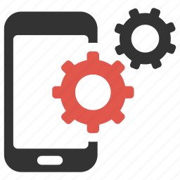 cogs, device, gears, optimization, options, phone, smartphone icon