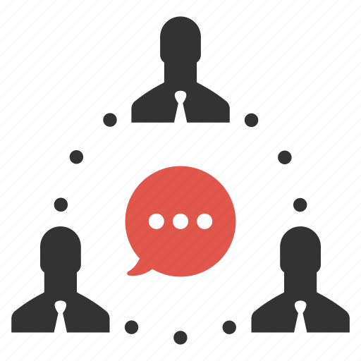 businessmen, chat, comment, connection, people, speech, talk icon