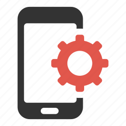 cog, device, optimization, options, phone, settings, smartphone icon