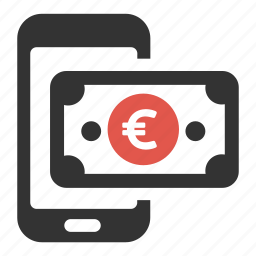 buy, cash, device, money, pay, payment, phone icon