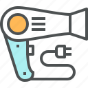 beauty, blow, dryer, hair, hair dryer, salon icon
