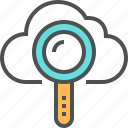 cloud, cloud computing, cloud search, find, magnifier, search, storage