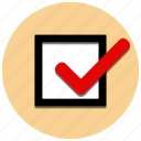 check, checkbox, choose, tick icon